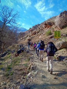 Trekking and walking morocco. Jebel Toubkal