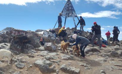 Jebel Toubkal peak. View Morocco.